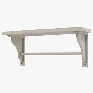3d kitchen shelf modeled