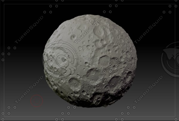 3d model of planet moon
