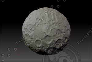 3d model of planet moon