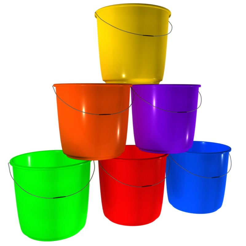3d plastic bucket model