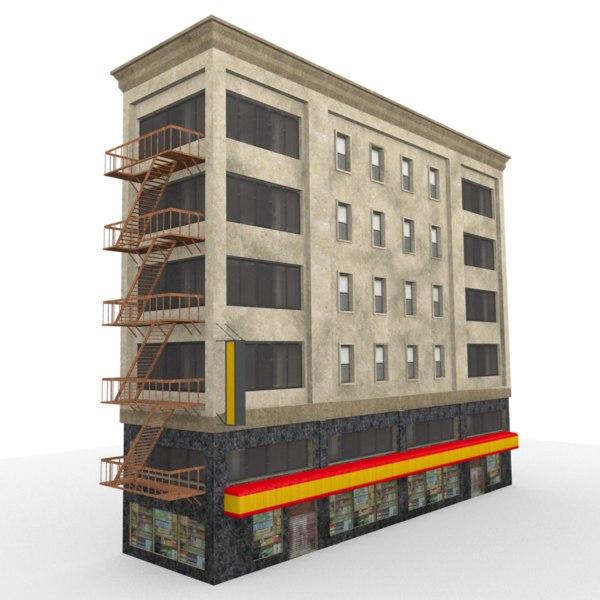 city house 3d 3ds
