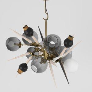 lindsey burst lamp 3d model