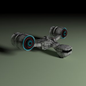 3ds max spaceship ion cannon