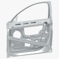 3d model car door frame
