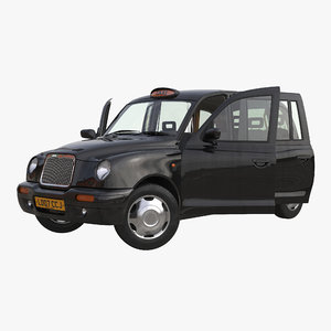 london cab tx1 rigged 3d model