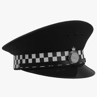 3d model uk police cap 2