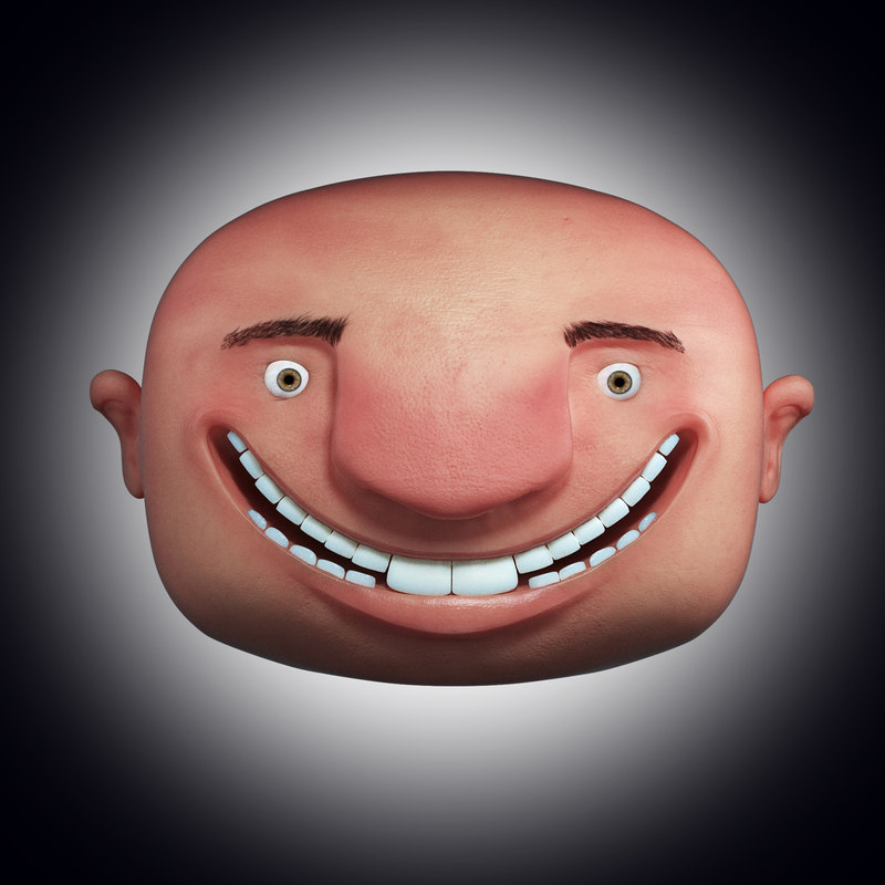 toon character face head max