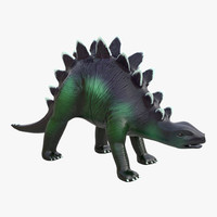 3d dinosaur toy stegosaurus modeled