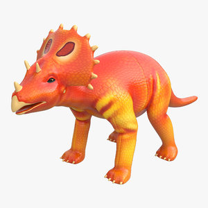3d dinosaur toy triceratops modeled