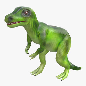 dinosaur toy tyrannosaurus modeled 3d model