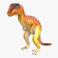 Dinosaur Toy Velociraptor 3D Model