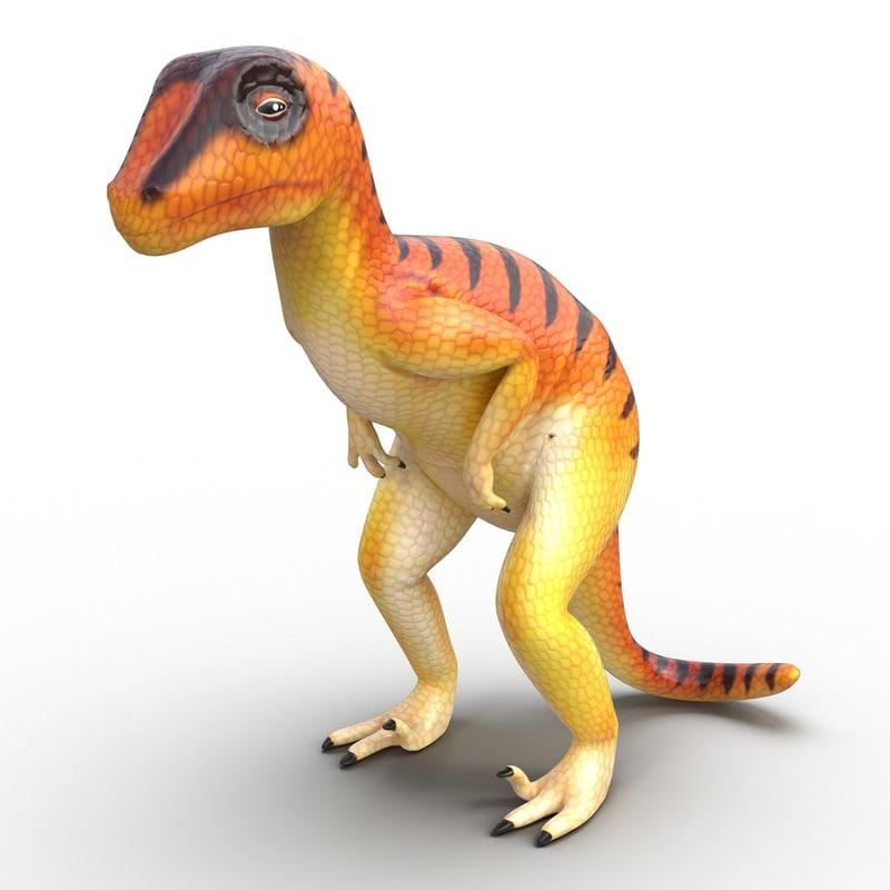 3d model dinosaur toy velociraptor modeled