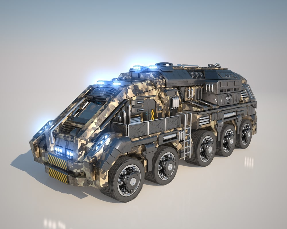 vehicle large truck 3d c4d