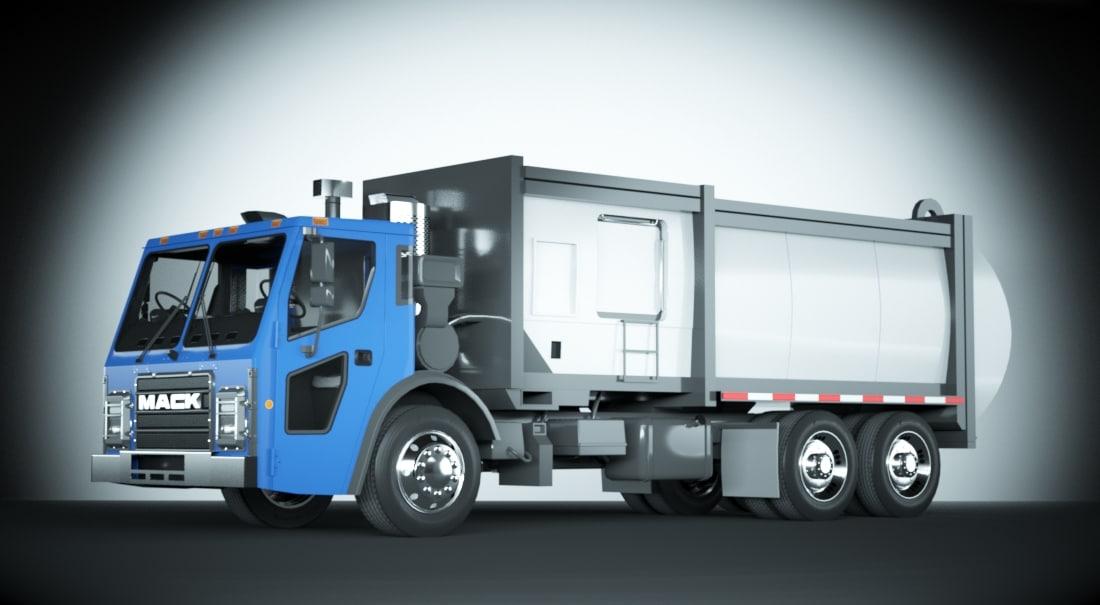 max 2015 mack lr garbage truck