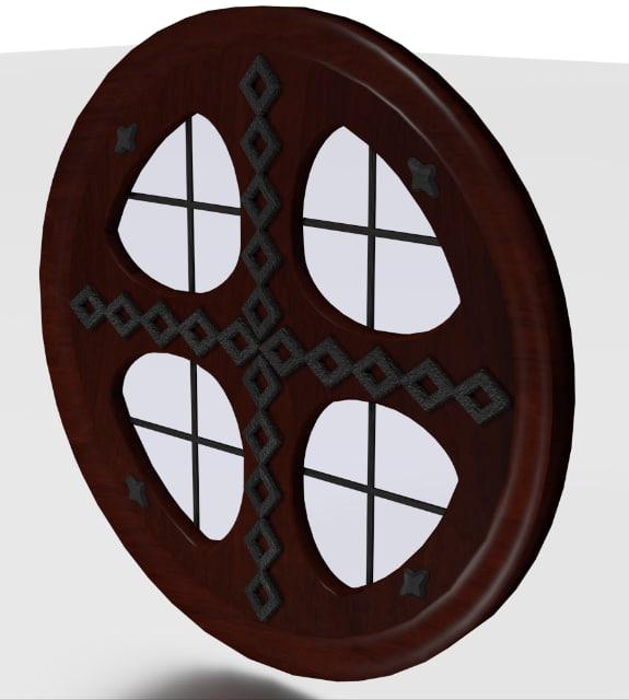 3d model tudor clear glass window