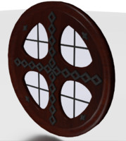 Tudor round window medieval clear wood