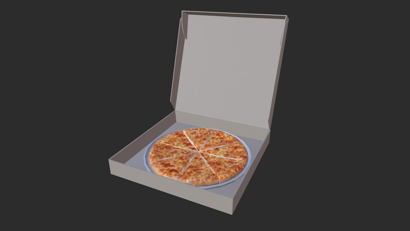 pizza box 3d obj