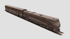 3ds max train engines locomotive