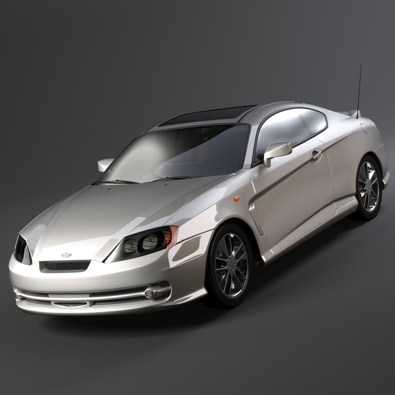 3d model hyundai tiburon car wheel