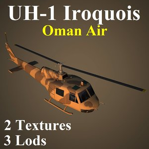 3d bell oma helicopter