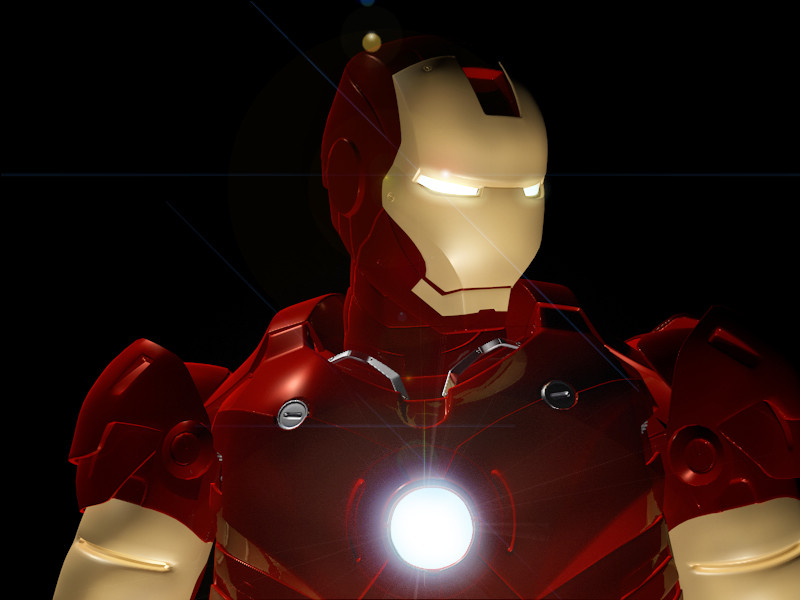 free iron man 3d model