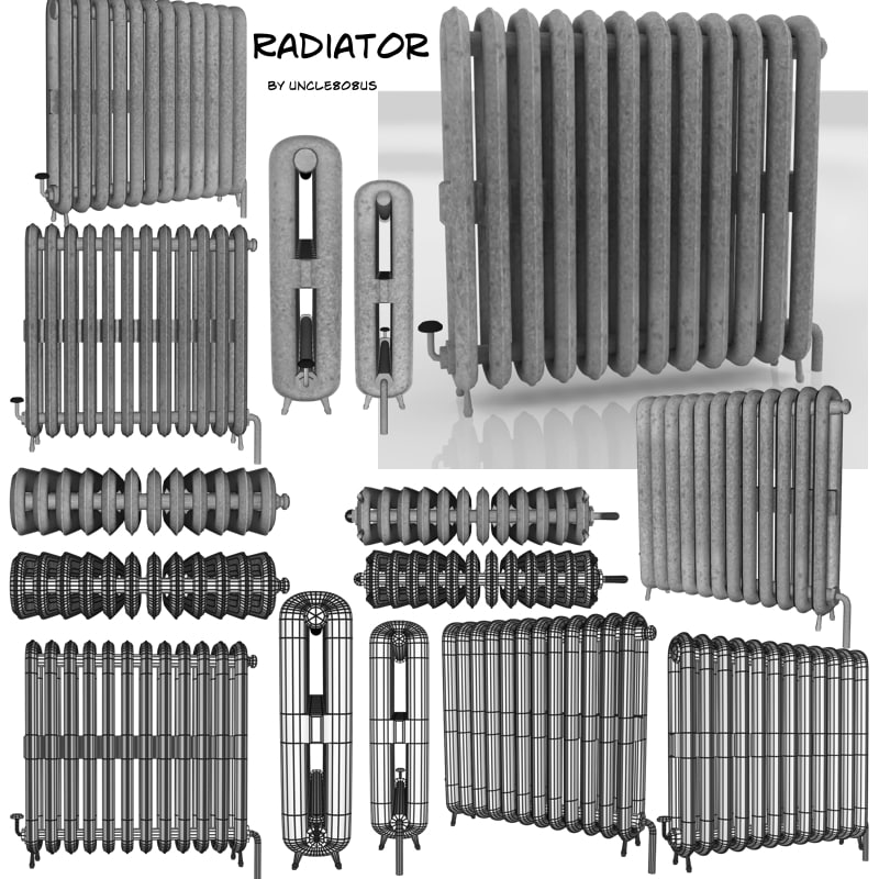 radiator 3d fbx