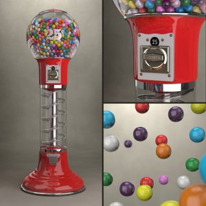 gumball machine 3d ma