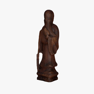 3ds max monastic sculpture scanned statue