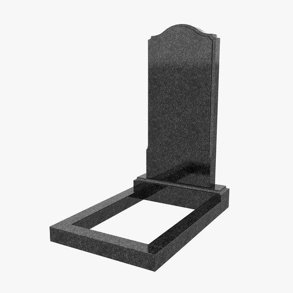 3d granite headstone 1