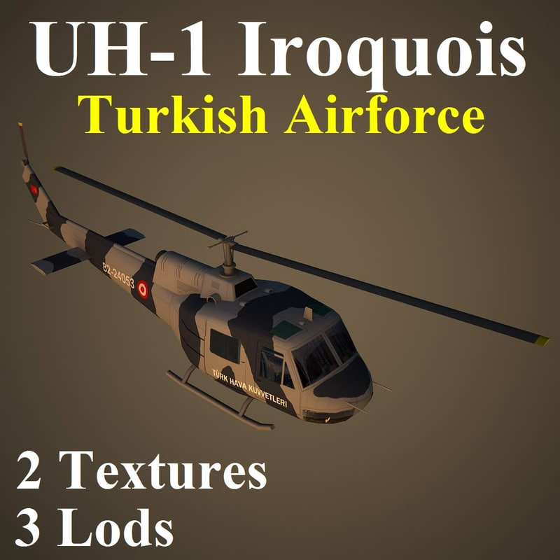 3d bell taf helicopter