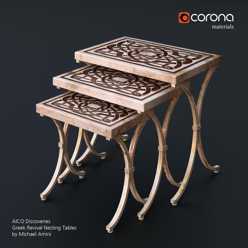 max greek revival nesting tables