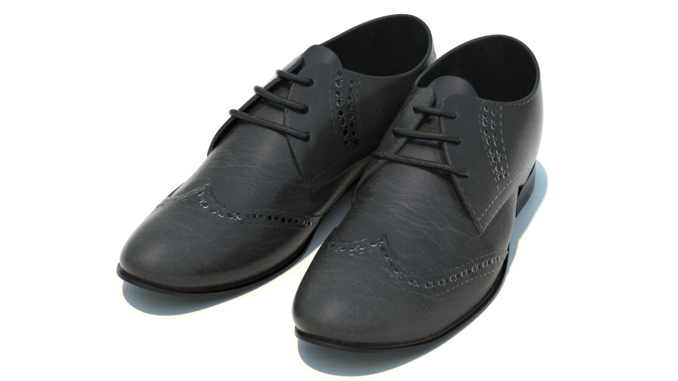 3dsmax oxford shoes