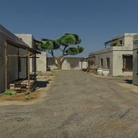 Sand Desert Village Game Environment Asset - First Person Shooter VR AR