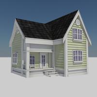 Cartoon House 3 - Residential Town City Farm House Home
