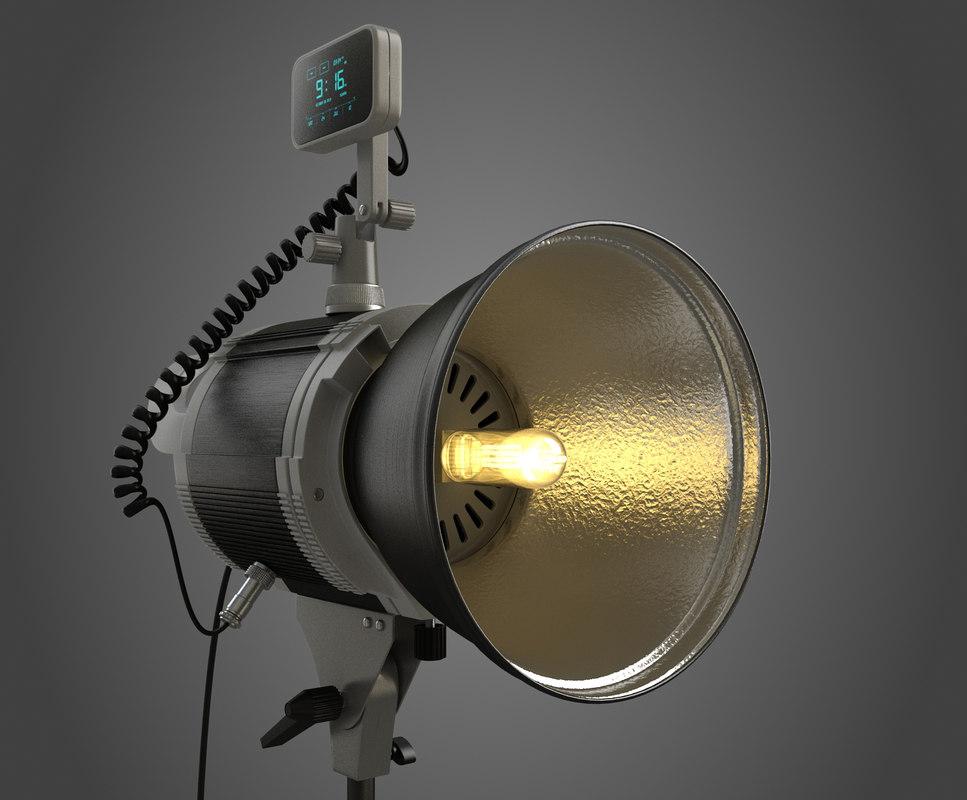 3d model hd studio spotlight softbox
