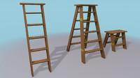 ladders 3d model