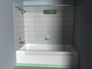 simple plain shower obj