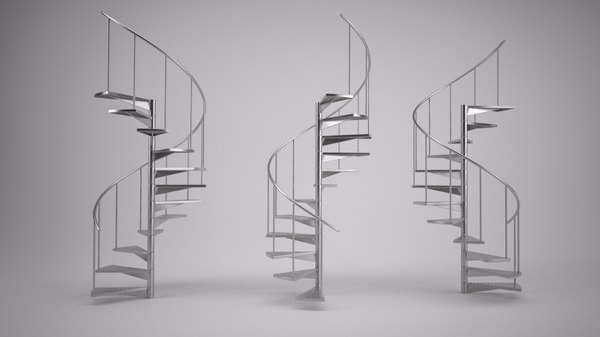 spiral staircase 3d max