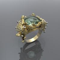 3d model ring marine