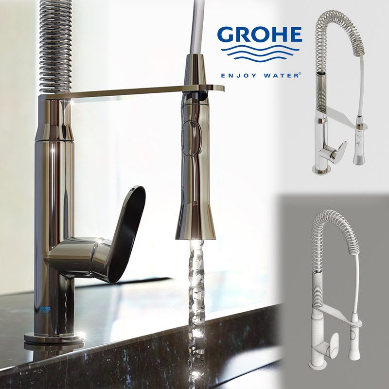 water tap grohe k7 3d obj