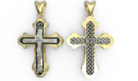 3d model cross stl gold