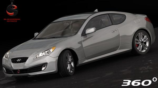 3d model hyundai genesis coupe 2010