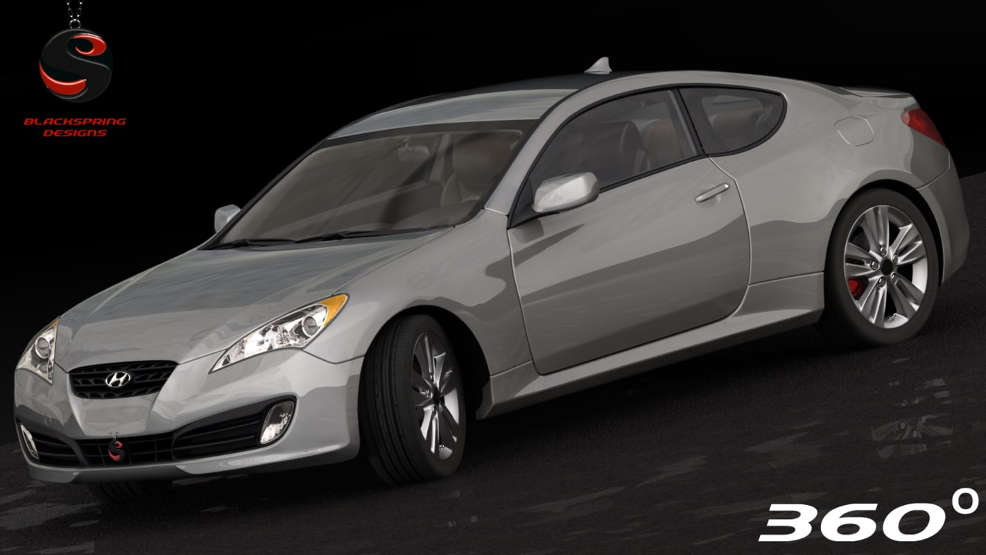 3d model hyundai genesis coupe 2010