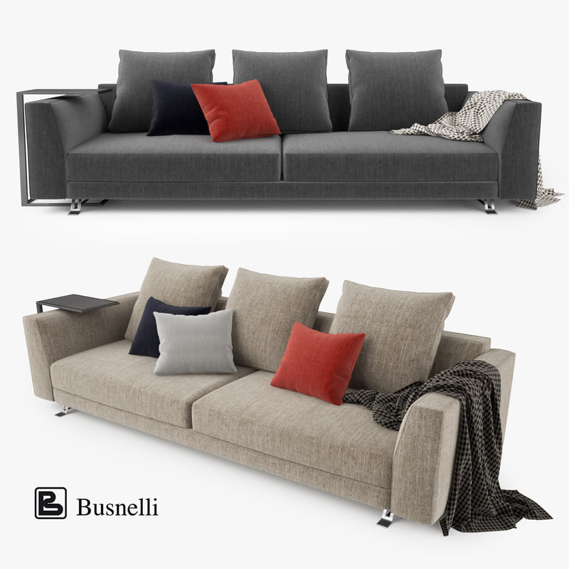 busnelli burton seater sofa 3d max