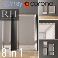 RH VENETIAN MIRRORS SET 8 ITEMS