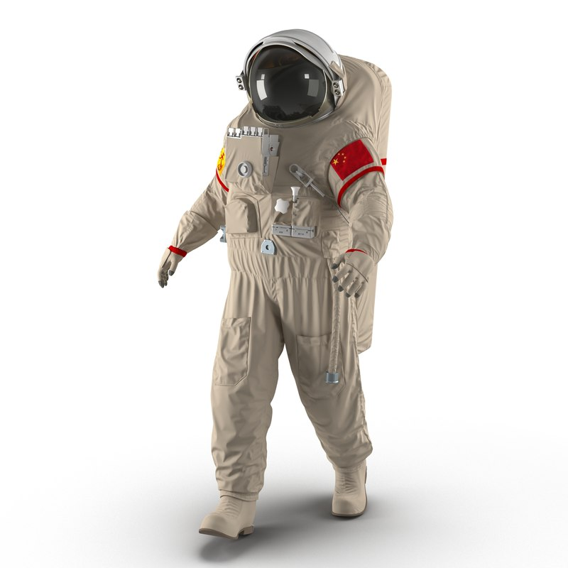 3d model of chinese space suit feitian