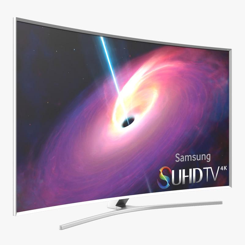 samsung curved smart tv 3d model