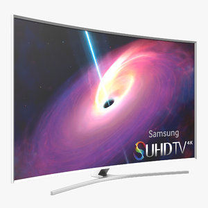 samsung curved smart tv 3d model