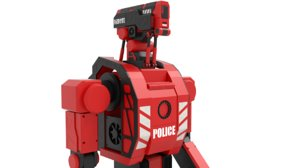 3ds max police robot