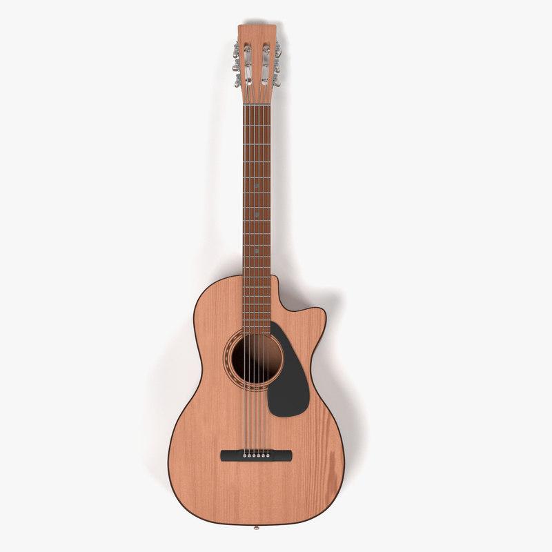 blender acoustic guitar